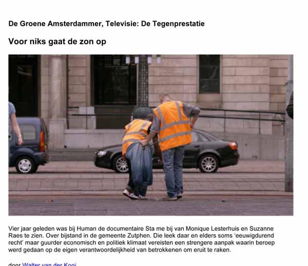 Artikel de Groene Amsterdammer