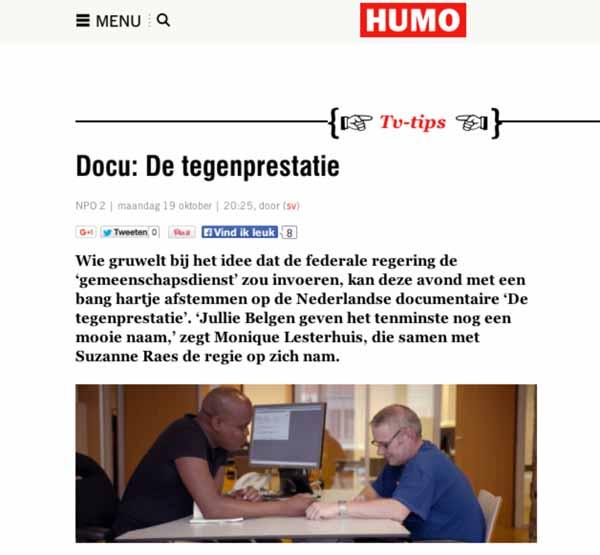 Interview Humo De Tegenprestatie