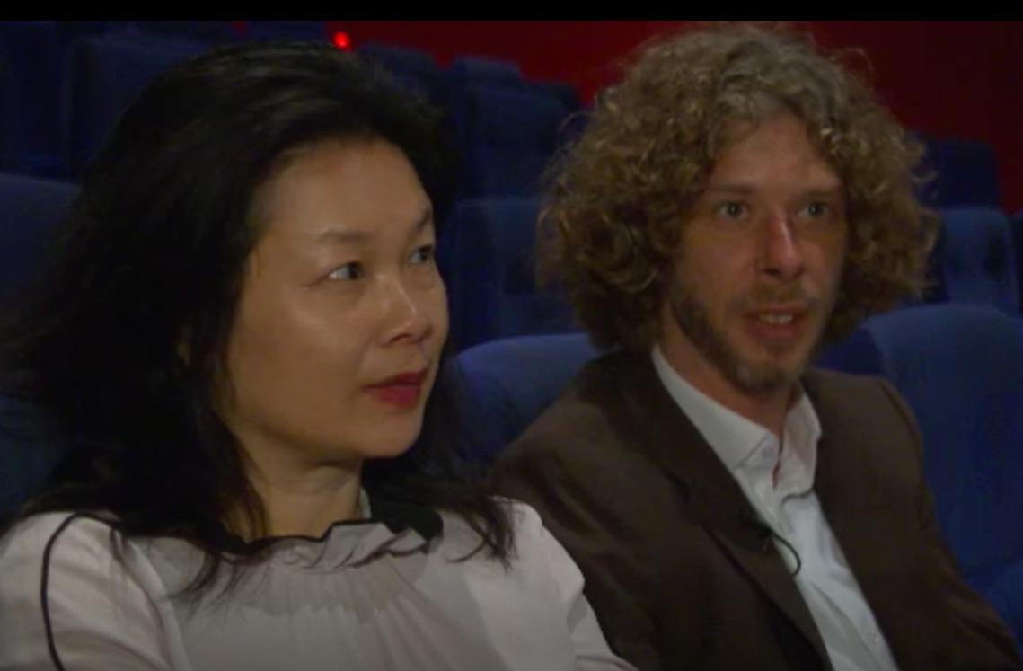 Yan Ting en Robert op de Belgische tv